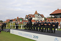 Thomas Sloman (GB&I) being introduced during the Official Opening of the Walker Cup, Royal Liverpool Golf CLub, Hoylake, Cheshire, England. 06/09/2019.<br /> Picture Thos Caffrey / Golffile.ie<br /> <br /> All photo usage must carry mandatory copyright credit (© Golffile | Thos Caffrey)