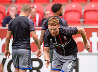 Lincoln City's Cian Bolger during the pre-match warm-up<br /> <br /> Photographer Chris Vaughan/CameraSport<br /> <br /> The EFL Sky Bet Championship - Rotherham United v Lincoln City - Saturday 10th August 2019 - New York Stadium - Rotherham<br /> <br /> World Copyright © 2019 CameraSport. All rights reserved. 43 Linden Ave. Countesthorpe. Leicester. England. LE8 5PG - Tel: +44 (0) 116 277 4147 - admin@camerasport.com - www.camerasport.com