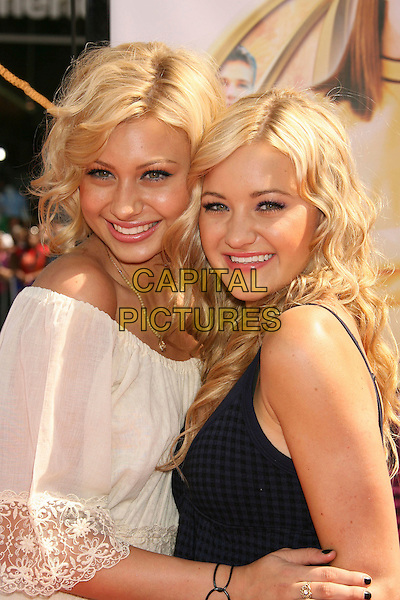 """ALY & AJ MICHALKA.""""Nancy Drew"""" World Premiere held at Grauman's Chinese Theatre, Hollywood, California, USA, 09 June 2007..half length sisters family twins.CAP/ADM/RE.©Russ Elliot/AdMedia/Capital Pictures."""