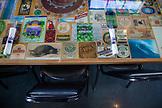 USA, Oregon, Ashland, table detail at the Caldera Brewery and Restaurant