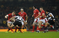 Wales Hadleigh Parkes takes on Barbarians Marco Van Staden<br /> <br /> Photographer Ian Cook/CameraSport<br /> <br /> 2019 Autumn Internationals - Wales v Barbarians - Saturday 30th November 2019 - Principality Stadium - Cardifff<br /> <br /> World Copyright © 2019 CameraSport. All rights reserved. 43 Linden Ave. Countesthorpe. Leicester. England. LE8 5PG - Tel: +44 (0) 116 277 4147 - admin@camerasport.com - www.camerasport.com