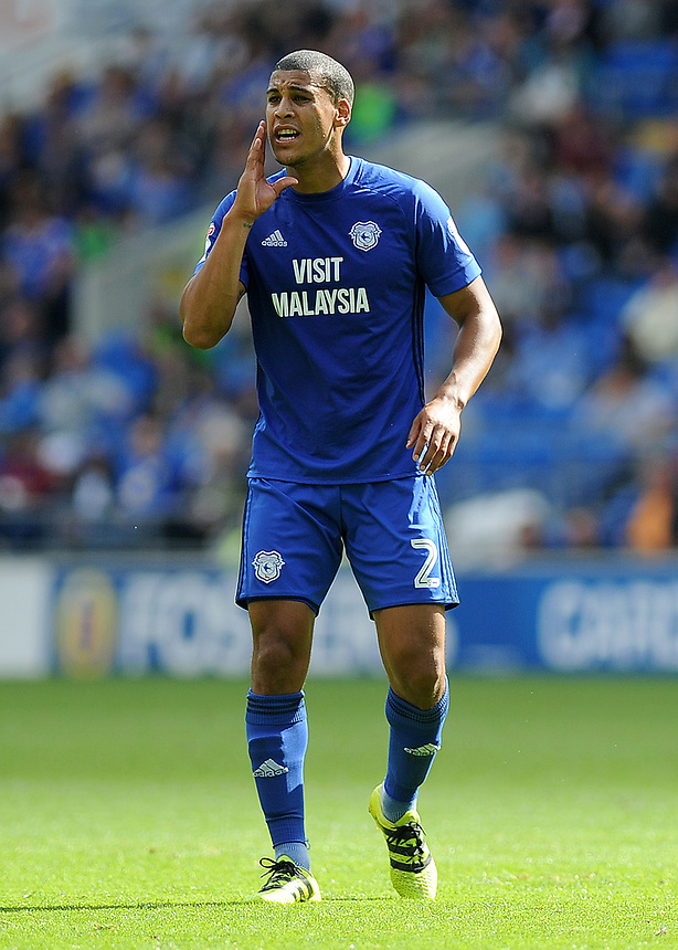 Cardiff City's Lee Peltier<br /> <br /> Photographer Ashley Crowden/CameraSport<br /> <br /> The EFL Sky Bet Championship - Cardiff City v Aston Villa - Saturday August 12th 2017 - Cardiff City Stadium - Cardiff<br /> <br /> World Copyright &copy; 2017 CameraSport. All rights reserved. 43 Linden Ave. Countesthorpe. Leicester. England. LE8 5PG - Tel: +44 (0) 116 277 4147 - admin@camerasport.com - www.camerasport.com
