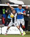 03.11.2018: St Mirren v Rangers: Ryan Edwards and James Tavernier