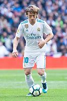 Real Madrid Luka Modric during La Liga match between Real Madrid and Atletico de Madrid at Santiago Bernabeu Stadium in Madrid, Spain. April 08, 2018. (ALTERPHOTOS/Borja B.Hojas) /NortePhoto NORTEPHOTOMEXICO