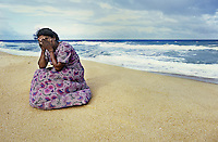 Mother who lost her three children to the sea when the tsunami hit   <br />