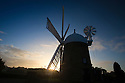 11/10/16 <br /> <br /> After a chilly night, dawn breaks over Heage Windmill, near Belper in Derbyshire. Britain's only working six-sailed stone windmill is now fully operational after its sails were replaced over the summer.<br /> <br /> All Rights Reserved: F Stop Press Ltd. +44(0)1773 550665   www.fstoppress.com