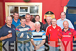 GOLF: The Munster Bar, Ballymullen, Tralee Golf society held their captains prize in Ross golf club, Killarney on Saturday. Front l-r: John O'Sullivan, Martin Hurley, Mike Pitman, John Murphy and Jerry O'Sullivan. Back l-r: Maurice O'Connor (winner 40pts), Mike Quirke, Jimmy Browne, Padraig Dolan and John Browne.   Copyright Kerry's Eye 2008