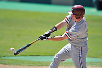 02 June 2008:  Stanford Cardinal Joey August (7) during Stanford's 9-7 win over the Pepperdine Waves in the NCAA Stanford Regional final game at Klein Field at Sunken Diamond in Stanford, CA.
