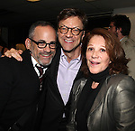 Bill Veloric, Jim Caruso and Linda Lavin at The Red Barn Studio Theatre Off-Broadway production of 'Positions' at the Roy Arias Studio Theatre on October 10, 2012 in New York City.