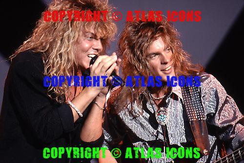 Europe, Joey Tempest, August 1, 1988.Photo Credit: Eddie Malluk/Atlas Icons.com
