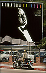 Frank Sinatra billboard/ LAPD Cop, Sunset Strip, 1978