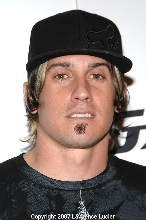 Motocross champion Carey Hart arrives at the launch party for the Casio G'zOne mobile phone March 21, 2007, at One in New York City... (Pictured : CAREY HART).