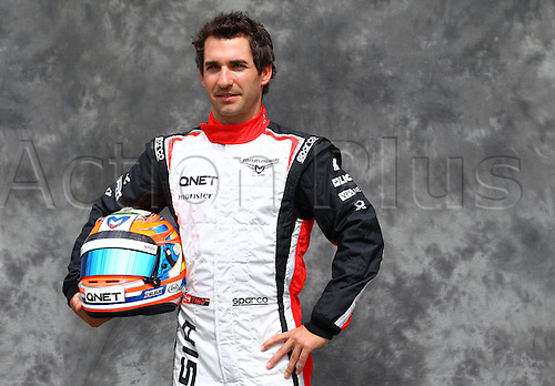 15.03.2012. Melbourne, Australia.  German Formula One driver Timo Glock of Marussia during the photo session at the paddock before the Australian Formula 1 Grand Prix at the Albert Park circuit in Melbourne, Australia, 15 March 2012. The Formula One Grand Prix of Australia will take place on 18 March 2012.