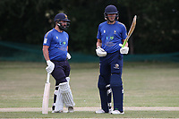 Ollie Ekers and George Ballington of Shenfied during Harold Wood CC vs Shenfield CC (batting), Essex Cricket League Cricket at Harold Wood Park on 25th July 2020