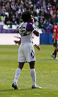 Real Valladolid´s Manucho during match of La Liga 2012/13. 31/03/2013. Victor Blanco/Alterphotos /NortePhoto