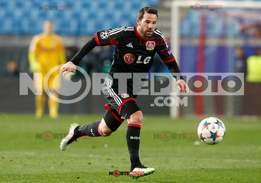 Bayer 04 Leverkusen's Gonzalo Castro during Champions League 2014/2015 match.March 16,2015. (ALTERPHOTOS/Acero) /NORTEphoto.com