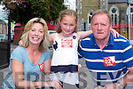 Ann Finn-Wallace, Nora Rose and Richard Wallace at the Michelle O'Connor memorial walk in aid of Cystic Fibrosis