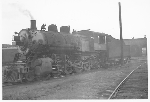 3/4 fireman's-side view of MT #61 near Colorado City roundhouse.<br /> Midland Terminal  Colorado City, CO