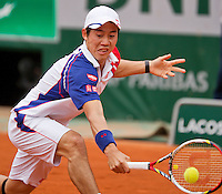 01-06-13, Tennis, France, Paris, Roland Garros, Kei Nishikori