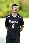 09 September 2014: Temple's Jared Martinelli. The Duke University Blue Devils hosted the Temple University Owls at Koskinen Stadium in Durham, North Carolina in a 2014 NCAA Division I Men's Soccer match. Duke won the game 3-1.