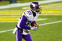 Minnesota Vikings cornerback Marcus Sherels (35) during a National Football League game against the Green Bay Packers on December 23rd, 2017 at Lambeau Field in Green Bay, Wisconsin. Minnesota defeated Green Bay 16-0. (Brad Krause/Krause Sports Photography)
