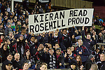 Members of the Rosehill 1st XV raise a sign to their favourite old boy. The game of Three Halves, a pre-season warm-up game between the Counties Manukau Steelers, Northland and the All Blacks, played at ECOLight Stadium, Pukekohe, on Friday August 12th 2016. Photo by Richard Spranger.