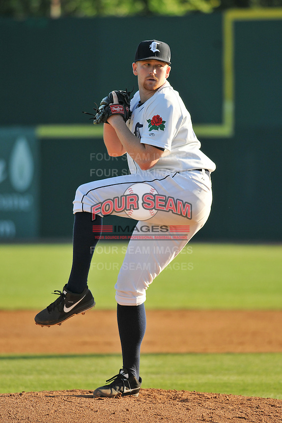 Spencer Turnbull (43) of the Connecticut Tigers pitches during a game against the Vermont Lake Monsters at Dodd Stadium on July 6, 2014 in Norwich, Connecticut.  Vermont defeated Connecticut 5-2.  (Gregory Vasil/Four Seam Images)