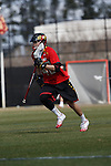 2013 March 02: Zack Wholley #42 of the Maryland Terrapins during a game against the Duke Blue Devils at Koskinen Stadium in Durham, NC.  Maryland won 16-7.