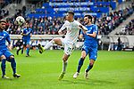 11.05.2019, PreZero Dual Arena, Sinsheim, GER, 1. FBL, TSG 1899 Hoffenheim vs. SV Werder Bremen, <br /> <br /> DFL REGULATIONS PROHIBIT ANY USE OF PHOTOGRAPHS AS IMAGE SEQUENCES AND/OR QUASI-VIDEO.<br /> <br /> im Bild: Milot Rashica (SV Werder Bremen #11) gegen Ermin Bicakcic (TSG Hoffenheim #4) und Florian Grillitsch (TSG 1899 Hoffenheim #11)<br /> <br /> Foto &copy; nordphoto / Fabisch