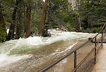 Merced River at the top of  Vernal Falls, Yoemite - 2011