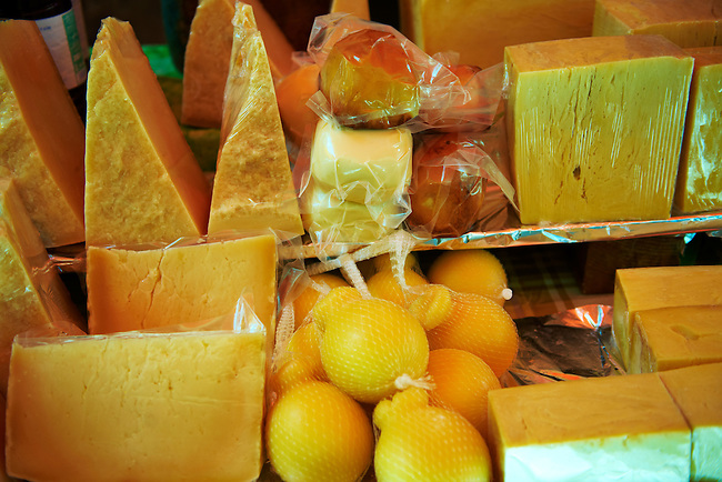 Cheese stall, Palermo food market, Sicily