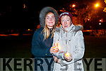 Ciara and Catherine Dolan, pictured at a candlelight vigil to mark World Suicide Day at Pearse Park, Tralee on Sunday night last.