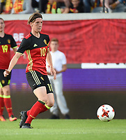 20170613 - LEUVEN ,  BELGIUM : Belgian Aline Zeler pictured during the female soccer game between the Belgian Red Flames and Japan , a friendly game before the European Championship in The Netherlands 2017  , Tuesday 13 th Juin 2017 at Stadion Den Dreef  in Leuven , Belgium. PHOTO SPORTPIX.BE | DIRK VUYLSTEKE