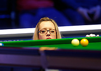 1st March 2020; Waterfront, Southport, Merseyside, England; World Snooker Championship, Coral Players Championship; Bulgarian referee Desislava Bozhilova officiating at today's final