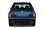 Straight rear view of a 2019 Volkswagen Tiguan SE 5 Door SUV stock images