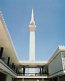MALAYSIA, Asia, Kuala Lumpur, low angle view of Negara National Mosque