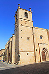 Concatedral church tower Santa Maria, medieval old town, Caceres, Extremadura, Spain
