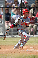 March 15, 2010:  Jason Simone (5) of the Cortland Red Dragons in a game vs Wheaton College at Lake Myrtle Park in Auburndale, FL.  Photo By Mike Janes/Four Seam Images