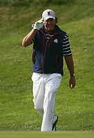Applause for Phil Mickelson (Team USA) on the 7th during Friday's Foursomes, at the Ryder Cup, Le Golf National, Île-de-France, France. 28/09/2018.<br /> Picture David Lloyd / Golffile.ie<br /> <br /> All photo usage must carry mandatory copyright credit (© Golffile | David Lloyd)