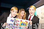 Sheena Birmingham (from Offaly) meeting Jedward back stage at Denny Street stage in the Kerry County Museum on Friday.