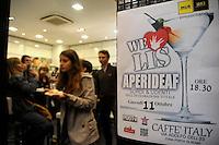 AperiDeaf, aperitivi organizzati da Radio Kaos Italye Radio Kaos ItaLIS per l'integrazione tra sordi e udenti..AperiDeaf, appetizers organized by Radio Kaos Italy for the integration of deaf and hearing...