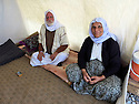 Iraq 2015   In the camp of Berseve, Yezidi couple in their tent  <br />