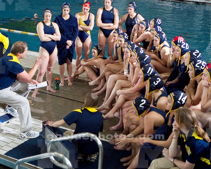 University of Michigan (#8) women's water polo team 6-5 loss to #4 UCLA at Canham Natatorium in Ann Arbor, MI, on January 23, 2011.