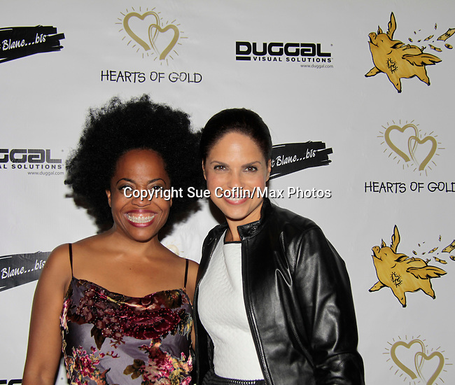 Another World Rhonda Ross & Soledad O'Brien at Hearts of Gold - 45 A Different Kind of Fund Raiser on July 10, 2014 at Manhattan Penthouse, New York City, New Yor (Photo by Sue Coflin/Max Photos)