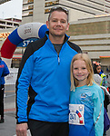 Matt and Ella Freeman during the 6th Annual Reno 5000 Downtown River Run on Saturday, April 6, 2019.