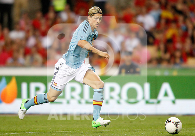 Spain's Fernando Torres during friendly match.June 3,2012.(ALTERPHOTOS/Acero)