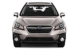 Car photography straight front view of a 2019 Subaru Outback Premium 5 Door Wagon Front View