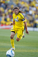 3 JULY 2010:  Frankie Hejduk of the Columbus Crew(2) during MLS soccer game between Chicago Fire vs Columbus Crew at Crew Stadium in Columbus, Ohio on July 3, 2010.