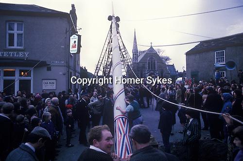 Maypole Barwick in Elmet, Yorkshire England 1970s