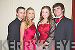 EXCITED: Students from Mean Scoil an Leith Triuigh, Castlegregory, Paul Flynn, Siobhan Hilliard, Michelle Hennessy and Cian O'Leary were excited as they prepared to head off to their Debs in the Abbeygate Hotel on Friday night.